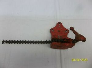 Vintage Usa 222 Craftsman Pipe Chain Vise Clamp 1 8 To 3