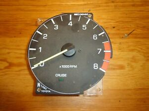 Toyota Supra Mk3 1989 92 Turbo Dash Rpm Tachometer Gauge Manual Oem 6500