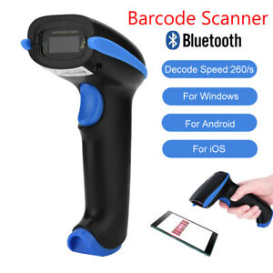 Portable Barcode Scanner Wireless Bluetooth Qr Bar Code Reader For Android Ios
