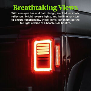 Sequential Led Tail Lights Smoke Brake Turn Signal For Jeep Wrangler Jk 07 17 Ht