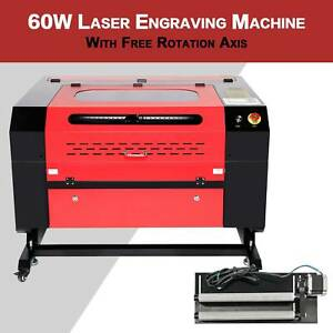 20 X 28 60w Co2 Laser Engraving Machine Laser Engraver Cutter W Rotary Axis