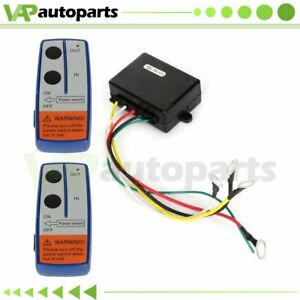 Winch Remote Control Switch 150ft 12v Electric Wireless For Truck Atv Utv Us
