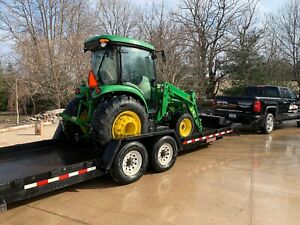 John Deere 4066r Deluxe Cab 4wd Tractor W Loader bucket Pallet Forks Attch