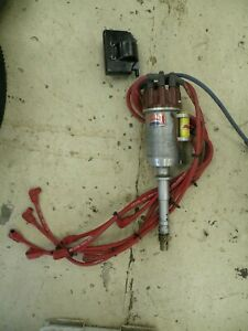 Used Hunt Magnetos Chevy Bbc Distributor Hot Rod Rat Rod Race Car W Spark Wires