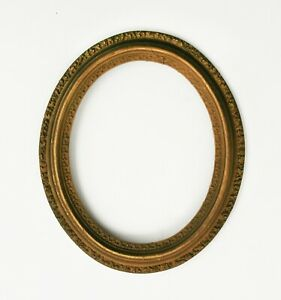 Antique Victorian Oval Gold Picture Frame 8 X 10 Opening At Rear