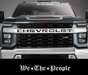 We The People Windshield Window Decal Sticker Fits Car Truck Jeep