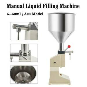 5 50ml Liquid Filling Machine For Cream Shampoo Paste Water Manual Remplissage