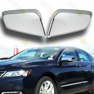Chrome Abs Plastic Side View Mirror Covers Cap Kit 2pcs Fit 14 19 Chevy Impala