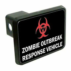 Zombie Outbreak Vehicle Funny 2 Tow Trailer Hitch Cover Plug Car Truck Receiver