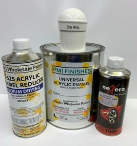 Brite White Gallon Kit Single Stage Acrylic Enamel Car Auto Paint Kit