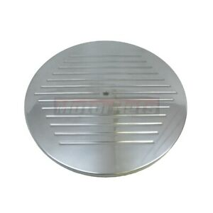 14 Round Polished Aluminum Ball Milled Air Cleaner Lid Top Only Sbc Bbc Hot Rod