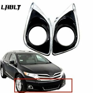 Set Of 2 Fog Light Trims Lh Rh For Toyota Venza To1038183 To1039183 2013 2016 Us