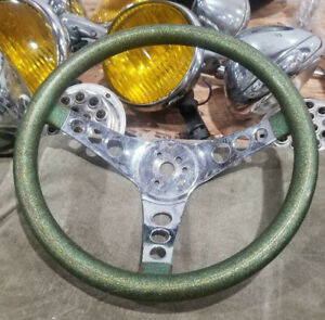 Vtg Metalflake Green Steering Wheel Superior 500 Hot Rod Custom Muscle Car Vw