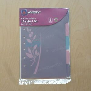 Avery Small format Plastic Dividers Studio Collection Write on 5 1 2 X 8 1 2