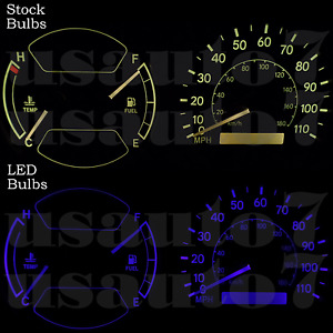 Dash Cluster Gauges Blue Led Light Bulb Kit Fit 98 02 Toyota Corolla Chevy Prizm