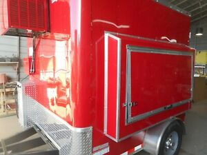 Refrigerated Beer Draft Cold Service Trailer 8ft 7k Axle 120v 6taps Co2 Ready