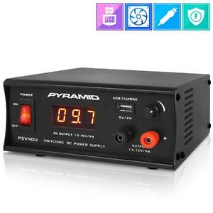 Pyramid Psv40u Bench Power Supply Ac to dc Power Converter Adjustable Voltage