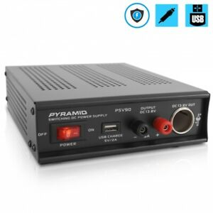 Pyramid Psv90 Desktop Bench Power Supply Ac to dc Power Converter 9 Amp