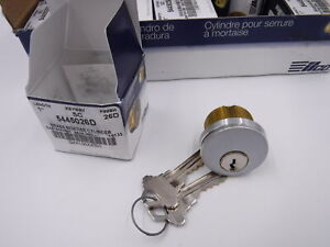 10 Pack 1 Kaba Ilco Brass Mortise Cylinder Locks Keyed Differently 5445026d