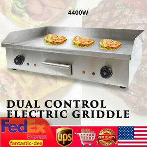 4400w Electric Countertop Griddle Flat Grill Bbq Hotplate Commercial Kitchen Usa