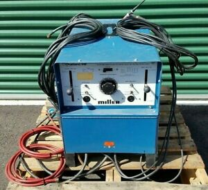 Miller Dialarc Hf Ac dc Gas Tig sma Welding Power Source 1 Phase W Foot Pedal