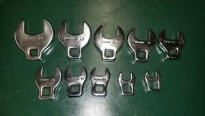 Crows Foot Wrench Set Metric 3 8 Drive