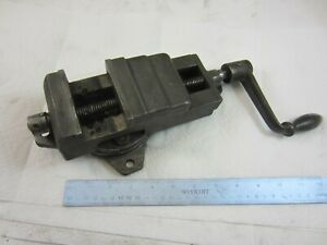 Original Atlas Horizontal Mill Milling Machine Vise With Swivel Base M1 301