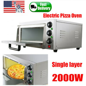 Commercial Countertop Electric Pizza Oven Toaster Baking Machine Stainless 2000w