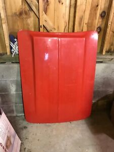1959 1962 Corvette Small Block Hood Red