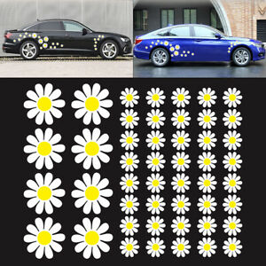 48 Daisy Flower Decal Car Stickers Graphics Bedroom Wall Window Decoration Art