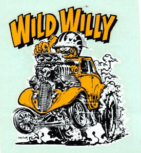 Original Vintage Ed Roth Decal 1933 Willys Gasser Drag Racing Hot Rod Nhra Old