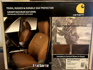 Carharrt Back Row Bench 60 40 Split Seat Cover For 2015 Gmc Doublecab Truck Grey