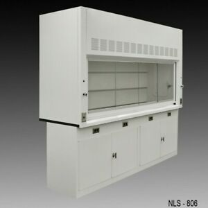 8 Laboratory Chemical Fume Hood W Storage Cabinets Quick Shipping E2 323