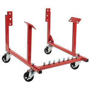Rolling Engine Cradle Stand Chevy V8 W Wheels