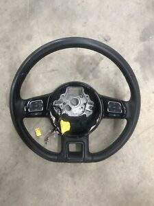 2012 2018 Vw Beetle Steering Wheel Brown Stitch Oem 38k