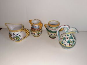 Ars Deruta Pottery 3 Inch Lot Of 4