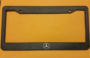 Brand New Mercedes Benz Logo Black License Plate Frame Amg W204 W205 W203 Benz