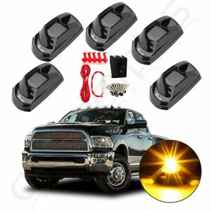 5x Led Cab Marker White Roof Running Light For 2017 2019 Ford F250 F350 switch