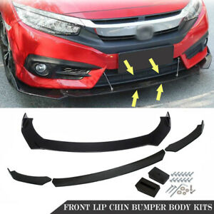 Universal Front Bumper Lip Body Kit Spoiler Fits Gmc Honda Civic Bmw Benz Mazda