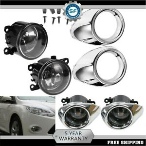 For 2012 2013 2014 Ford Focus Clear Lens Driving Fog Lights Bumper Lamps Bulbs