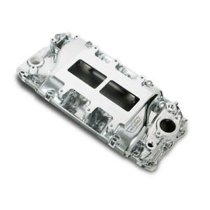 Weiand Intake Manifold 6121win 177 Polished For Chevy 396 454 Bbc
