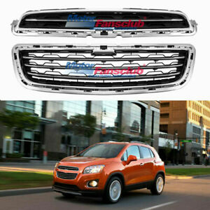 Front Bumper Upper Lower Grille For Chevy Chevrolet Trax 2013 2016 Chrome Black