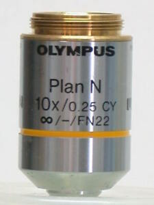 Olympus Plan N 10x Fn22 Infinity Corrected Phase Microscope Objective