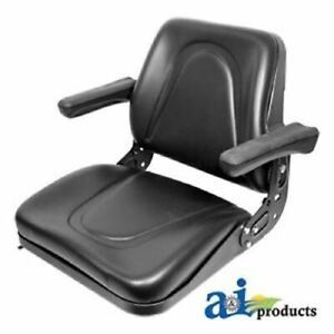 T500bl Universal Tractor Seat With Slide Tracks Kubota Ford Case Mf Jd