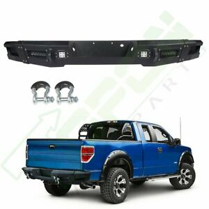 Steel Rear Bumper Assembly For Ford F150 12 14 Standard Protector Face Bar Truck