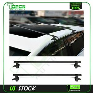 54 Universal Top Roof Rack Cross Bars Luggage For 4 Door Car Suv Truck Jeep Usa