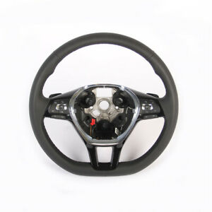 Black Multi Function Steering Wheel With Heated Tiptronic For Vw Jetta Mk6