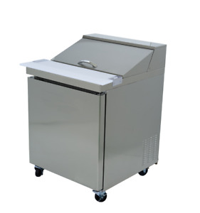 Stainless Steel Commercial Salad Sandwich Prep Table Cooler