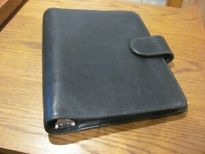 Day Runner The Far Side 6 Ring Organizer Leather Planner Black 8 25 X 6