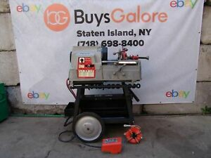 Ridgid 535 Automatic Pipe Threader Threading Machine 1 2 2 Inch Works Fine